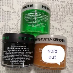 Peter thomas roth pumpkin/Irish moor mud mask